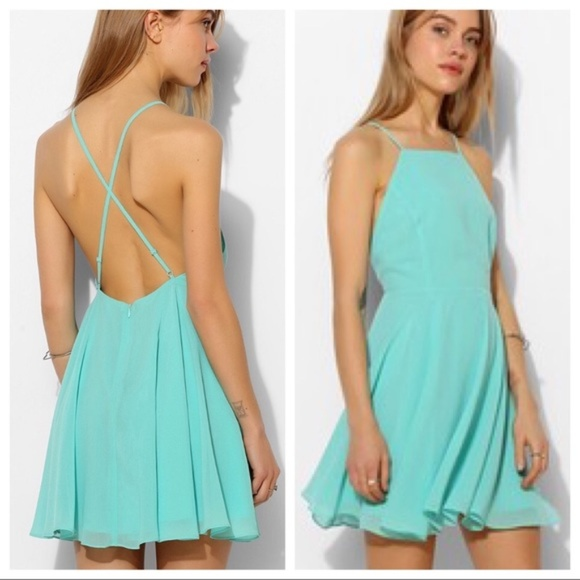 Urban Outfitters Dresses & Skirts - [UO] Silence + Noise Chiffon High Neck Apron Dress